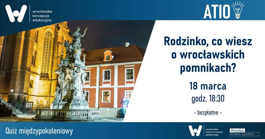 Quiz zdjęcie z pomnikiem wrocławskim